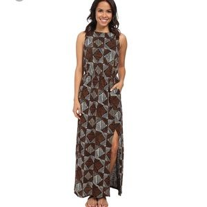 Lucky brand Batik Dot Diamonds Maxi Dress